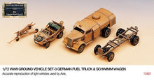 ACADEMY 1:72 - WWII GERMAN FUEL TRUCK AND SCHWIMWAGEN