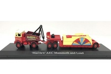 ATLAS 1:76 - AEC MAMMOTH BALLAST & LOAD WITH DRAWBAR TRAILER - HARRIS'S A, RED/YELLOW