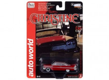 AUTO WORLD 1:64 - CHRISTINE 1958 PLYMOUTH FURY (PARTIALLY RESTORED), RED DIRTY
