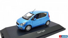 DEALER MODEL 1:43 - OPEL AGILA MK2 2008 - MET. BLUE (WSL)