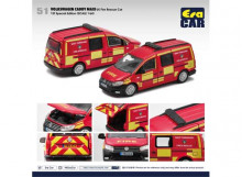 ERA 1:64 - VOLKSWAGEN CADDY MAXI 1ST SPECIAL EDITION *UK FIRE RESCUE CAR*, RED/YELLOW