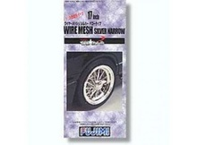 FUJIMI 1:24 - 17 INCH WIRE MESH WHEEL & TIRES SILVER NARROW