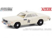GREENLIGHT 1:64 - DODGE MONACO 1978 *HOLLYWOOD SPECIAL EDITION THE A-TEAM 1983-87 TV SERIES*, WHITE