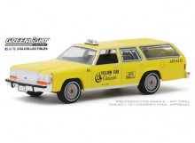 GREENLIGHT 1:64 - FORD LTD CROWN VICTORIA WAGON 1988 YELLOW CAB OF CORONADO CALIFORNIA, YELLOW
