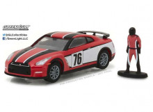 GREENLIGHT 1:64 - NISSAN GT-R 2015 RACE CAR DRIVER *THE HOBBY SHOP SERIES 1*