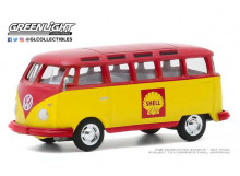 GREENLIGHT 1:64 - VOLKSWAGEN SAMBA BUS 1964 SHELL OIL *CLUB VEE-DUB SERIES 11*, RED/YELLOW