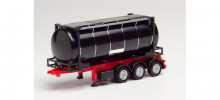 HERPA 1:87 - 26 ft. Containerchassis with swapcontainer, black