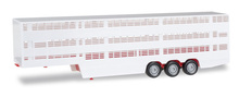 HERPA 1:87 - Cattle transporter trailer, red