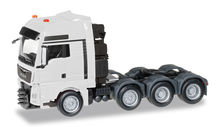 HERPA 1:87 - MAN TGX XXL 640 E6 HEAVY DUTY RIGID TRACTOR, WHITE