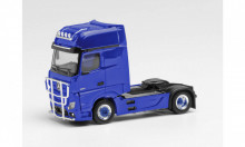 HERPA 1:87 - MERCEDES-BENZ ACTROS GIGASPACE `18 RIGID TRACTOR WITH LIGHT BAR AND CRASH PROTECTION, ULTRAMARINE BLUE