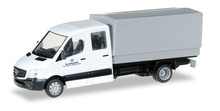 """HERPA 1:87 - Mercedes-Benz Sprinter double cabin with canvas """"German federal army"""""""