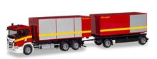 HERPA 1:87 - SCANIA CG 17 ROLL-OFF CONTAINER TRUCK 'FIRE DEPARTMENT'