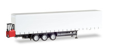 HERPA 1:87 - Schmitz Curtain canvas trailer, 3-axle with forklifter
