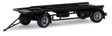 HERPA 1:87 - Trailer for Container, black