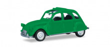 HERPA1:87 - Citroen 2 CV with folding top open, traffic green