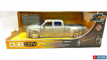 "JADA 1:24 - 1999 CHEVROLET SILVERADO DOOLEY ""20TH ANNIVERSARY SERIES"", CHROME/ORANGE"