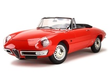 MAGAZINE MODELS 1:43 - ALFA ROMEO SPIDER DUETTO 1600 IN BLISTERPACKAGE, RED