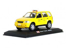 MAGAZINE MODELS 1:43 - FORD ESCAPE 2005 HYBRID *CHIGAGO TAXI*, YELLOW