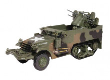 MAGAZINE MODELS 1:43 - MULTIPLE GUN MOTOR CARRIAGE M16 3RD ARMORED DIVISION AACHEN GERMANY 1944, ARMY GREEN