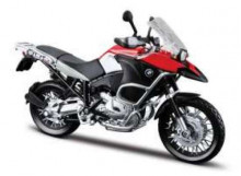 MAISTO 1:12 - BMW R1200 GS, RED/SILVER