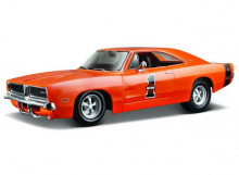 MAISTO 1:24 - DODGE CHARGER R/T 1969 #1 *HARLEY DAVIDSON*, ORANGE