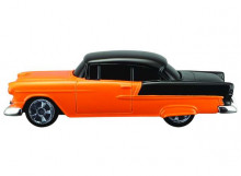 MAISTO 1:64 - CHEVROLET BEL AIR 1955, ORANGE/BLACK