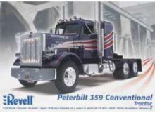 REVELL 1:25 - PETERBILT 359 CONVENTIONAL TRACTOR, PLASTIC MODELKIT.