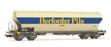 Rivarossi HO (1:87) - DB, round-sided hopper wagon 'Herforder Pi ls', grey, epoch IV