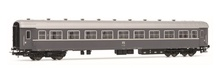Rivarossi HO (1:87) - Set x 2 coaches 59 type, red livery, inter national service, one 2. class ?Ristoro' a