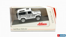 SCHUCO 1:64 - LAND ROVER DEFENDER *SAFARI*, BLACK/WHITE