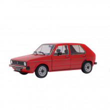 SOLIDO 1:18 - VW GOLF L 1983, RED MARS