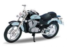 WELLY 1:18 - HONDA SHADOW VT1100C, BLUE/BLACK