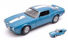 WELLY 1:24 - PONTIAC FIREBIRD TRANS AM 1972 BLUE W/WHITE STRIPE