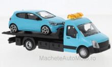 BBURAGO 1:43 - IVECO DAILY TRANSPORT WITH RENAULT CLIO