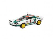 MAGAZINE MODELS 1:43 - LANCIA STRATOS 1977 HF #1 S. MUNARI/S. MAIGA, WHITE/GREEN/RED