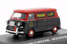 "ATLAS 1:43 - FIAT 600 1958 ""MOKARABIA"", RED/BLACK"