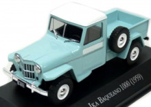 ATLAS 1:43 - IKA BAQUEANO 1000 (WILLYS JEEP TRUCK) 1959 - UNFORGETABLE CARS, TURQUOISE