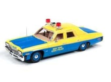 AUTO WORLD 1:43 - DODGE MONACO 1974 NEW YORK STATE POLICE *RESIN SERIES*, YELLOW/BLUE