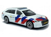 BBURAGO 1:43 - AUDI A6 2019 *DUTCH POLICE*, WHITE/RED/BLUE