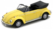 CARARAMA 1:72 - VW KEVER CABRIOLET (OPEN TOP), YELLOW