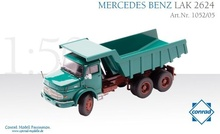 Conrad 1:50 - Mercedes LAK2624 3ax Tipper - Green
