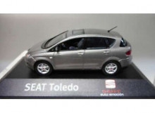 DEALER MODEL 1:43 - SEAT TOLEDO 2004-2009 *IN SEAT DEALER PACKAGING*, LIGHT GREY