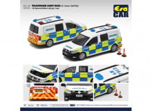 ERA 1:64 - VOLKSWAGEN CADDY MAXI 1ST SPECIAL EDITION *H.K.POLICE (AM 7902)*, WHITE/BLUE/GREEN