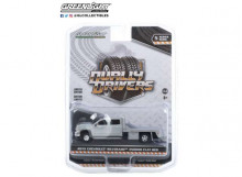 GREENLIGHT 1:64 - CHEVROLET SILVERADO 3500 2015 DUALLY FLAT BED *DUALLY DRIVERS SERIES 5*, SILVER ICE METALLIC