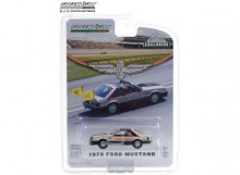 GREENLIGHT 1:64 - FORD MUSTANG 1979 63RD ANNUAL INDIANAPOLIS 500 MILE RACE OFFICIAL PACE CAR, WHITE/BLACK