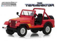 """GREENLIGHT 1:64 - JEEP """"THE TERMINATOR"""" WITH FIGURES, RED"""
