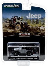 GREENLIGHT 1:64 - JEEP WRANGLER RUBICON 2013, 10TH 'ANNIVERSARY COLLECTION SERIES 4', SILVER