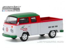 GREENLIGHT 1:64 - VOLKSWAGEN TYPE 2 1979 CREW CAB PICK-UP DOKA TURTLE WAX *BLUE COLLAR COLLECTION SERIES 7*, WHIT