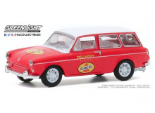 GREENLIGHT 1:64 - VOLKSWAGEN TYPE 3 SQUAREBACK 1965 PENNZOIL DELIVERY SERVICE *CLUB VEE-DUB SERIES 11*, RED