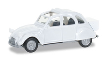 HERPA 1:87 - Citroen 2 CV mit Queue, pearl white